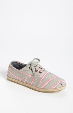 TOMS 'Cordones - Washed Stripe' Slip-On (Women) available at #Nordstrom