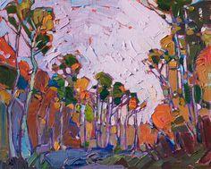 Oil painting of scenery in Cedar Breaks by contemporary artist Erin Hanson
