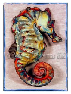 Blank Photo Note Card SEAHORSE Sea Horse by SmilesUnlimited