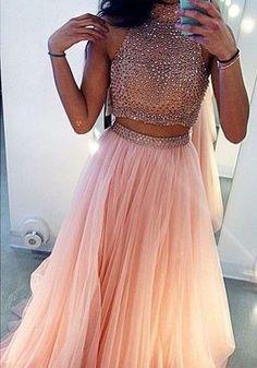 Tulle robe paillette longue sans manches femme rose
