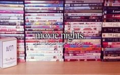 "justgirlythings: "" picture of my movie collection. movie night anyone?"
