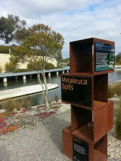 Corten Steel Signage, Royal Botanic Garden, Cranborne, Australia - Let it rust… Entrance Signage, Park Signage, Exterior Signage, Environmental Graphic Design, Environmental Graphics, Diy Mailbox, Wayfinding Signs, Sign Board Design, Interactive Installation