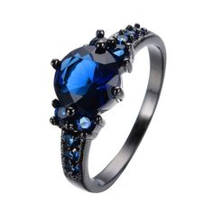 Black Gold Filled With Zircon Sapphire