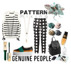 """Pattern Mixing with Genuine People"" by love-blair-serena ❤ liked on Polyvore featuring Rochas, Chanel and Yves Saint Laurent"