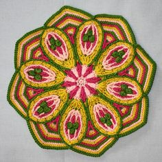 Mandala No 2  Overlay Crochet   Pattern  PDF by CAROcreated, €4.50