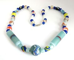 Vintage Murano Glass Bead Necklace Italian by LeesVintageJewels