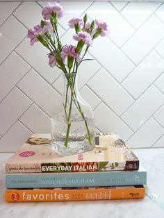 Renovation - kitchen detail shot, subway tile backsplash in herringbone pattern with gray grout, carrera marble counters I have thought of this combo *Kitchen - herringbone tile blue/grey glass tile, thin grey grout, white walls Herringbone Subway Tile, Herringbone Pattern, Subway Tiles, Chevron Tile, Marble Pattern, Room Tiles, Kitchen Backsplash, Bath Tiles, Tub Tile
