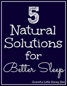 If you find it hard to fall asleep at night you may want to try these 5 Natural Solutions for Better Sleep! #ad #StressLess2BmyBest #CG