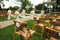 Simple, yet chic chair decor