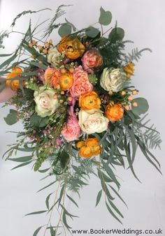 Wild Bride Bouquet in Orange, Pink, Peach and Coral Vera Wang Wedding, Wedding Bride, Our Wedding, Wedding Flowers, Wedding Venues, Bouquet Delivery, Flower Delivery, Bride Bouquets, Bridesmaid Bouquets