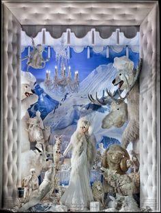 Vitrines de Natal   O branco como tema da temporada