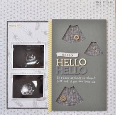 Scrapbook page- Baby scan
