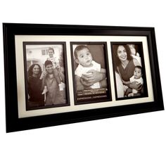 <div>Frame together three photos of your family or friends to display on a table on desk. </div>...