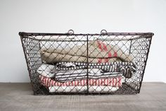 Can't get enough of these wire baskets.  Olive Manna is my new obsession.