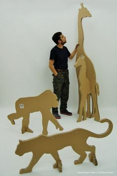 Cardboard animals - I would love to paint these and them attach them to the classroom wall so they can be easily removed.