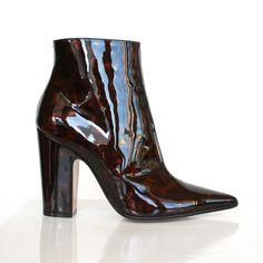 MAISON MARTIN MARGIELA patent leather tortoise shell pointed toe boots 39.5 NEW #MaisonMartinMargiela #FashionAnkle #Party