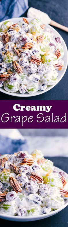 Creamy Grape Salad - Fruit Salad, wonder if this is like Ellen's???