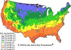 2015 Arborday.org Hardiness Zones
