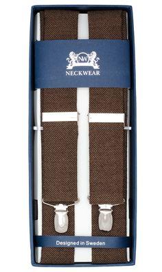 Mørk Brun ullseler. Kjøp seler i ull online | Neckwear.no