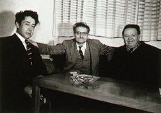 Diego Rivera, David Alfaro Siqueiros and Jose Clemente Orozco, 1947.  Courtesy Cenidiap Archive, Mexico City.