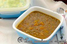 Potaje de lentejas con verduras y calabaza