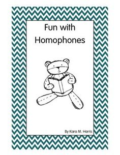 This 21 page booklet includes:- 2 homophones activities- 1 homophones test- 1 homophones foldables activity with extra grids- 27 pairs of homophones study cards (to be printed on cardstock)- 1 list of 50 pairs of homophones used to make this booklet.Great for ESOL students as well!