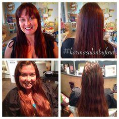 Hair by Julie Manos-Robinson #karmasalonbuford #hairbyjuliemanosrobinson
