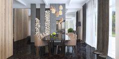 Jadalnia, stół, krzesła, aranżacja jadalni, drewno kominkowe, kominke. Zobacz więcej na: https://www.homify.pl/katalogi-inspiracji/16812/10-sposobow-na-luksusowe-wnetrza