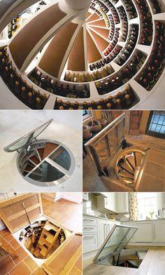 Awesome wine cellar. @kellynewby. I found the hidden treasure