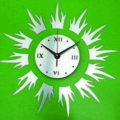 Nástenné hodiny zrkadlové samolepka, wall mirror clock, spiegeltakt, zegar lustro