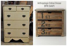 East Coast Creative: Anthro Ordinal Dresser {Knock Off Style}