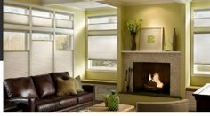 Hunter Douglas Applause® Honeycomb Shades and Window Treatments - contemporary - living room - other metro - Accent Window Fashions LLC Motorized Window Treatment, Window Treatments Living Room, Living Room Windows, Window Coverings, Window Shades, Window Styles, Room, Room Design, Honeycomb Shades