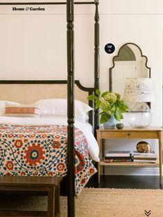 Amber Lewis, Amber Interiors, Sunset Magazine, suzani bedspread
