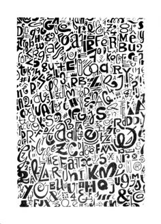 The Graphic Design Studio Kouglof publishes its creations K-encre in a limited silk print series, printed on quality paper using eco-friendly ink. Moleskine Pen, Graffiti Doodles, Doodle Art Drawing, Street Art, Sketch Painting, Type Setting, Art Graphique, Cellphone Wallpaper, Repeating Patterns