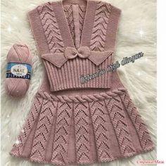 Knitting For Kids, Baby Knitting Patterns, Knitting Socks, Crochet Patterns, Crochet Baby, Knit Crochet, Easy Crochet Projects, Crochet Fashion, Baby Dress