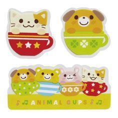 203617 cute animal antibacterial bento box food sheets