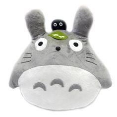 Totoro: 20-inch Totoro and Dust Bunny Plush Pillow