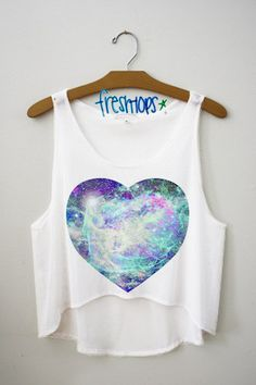 Galaxy in my Heart Crop Top