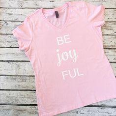 Be Joy FUL V-Neck Graphic Women's Tee