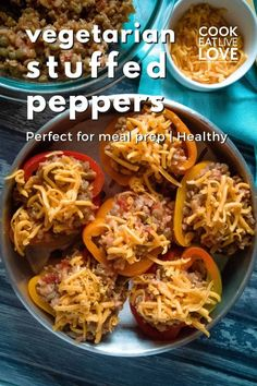 In this delicious vegetarian stuffed peppers recipe, lentils and brown rice create a healthy combination. This vegetarian lentil recipe is easy to make and perfect for meal prep. Get the recipe and special tips to make this recipe with excellent results. Don't forget to signup for my email list for more vegetarian recipes and tips straight to your inbox. Vegetarian Bean Recipes, Vegetarian Comfort Food, Quick Vegetarian Meals, Lentil Recipes, Healthy Meal Prep, Healthy Recipes, Vegetarian Stuffed Peppers, Stuffed Peppers With Rice
