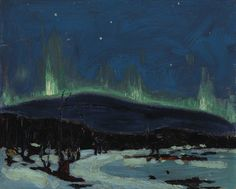 """Tom Thomson - Canada / Group of Seven (1877 - 1917) """"Northern Lights""""  1916-1917"""
