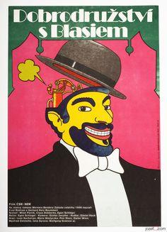 0.99 EBAY AUCTION / 10th April, 8.30pm / Original Vintage Movie Poster ADVENTURE WITH BLASIUS / 1970s Cinema Art Poster / #poster #illustration