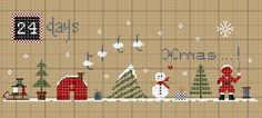 christmas+countdown+ok+bloc. Cross Stitch Christmas Ornaments, Xmas Cross Stitch, Cross Stitch Baby, Christmas Embroidery, Xmas Ornaments, Christmas Cross, Cross Stitch Charts, Cross Stitching, Cross Stitch Embroidery