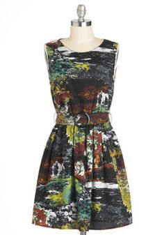 Reading by the Riverbank Dress in Moss, #ModCloth