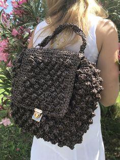 Crochet Backpack, Tote Backpack, Embroidery Bags, Crochet Purses, Summer Bags, Boho Style, Hippie Boho, Boho Fashion, Bubbles