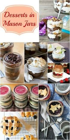 Desserts in Mason Jars (Collection Desserts in Mason Jars – a delicious dessert recipe collection perfect for bridal showers, baby shower, shabby chic party and so many other special occasions. Brownie Desserts, Oreo Dessert, Mini Desserts, Coconut Dessert, Dessert In A Jar, Easy Desserts, Delicious Desserts, Dessert Recipes, Yummy Food