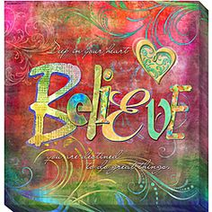 @Overstock - Artist: Connie Haley   Title: Believe  Product type: Gallery-wrapped giclee arthttp://www.overstock.com/Home-Garden/Connie-Haley-Believe-Canvas-Giclee-Art/4812981/product.html?CID=214117 $38.99