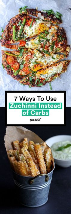 We Used Zucchini Instead of Carbs and Weren't Mad About It We're talking chips, fries, pizza crust. all made from zucchini.We're talking chips, fries, pizza crust. all made from zucchini. Low Carb Zucchini Recipes, Vegetable Recipes, Low Carb Recipes, Vegetarian Recipes, Cooking Recipes, Healthy Recipes, Shredded Zucchini Recipes, Cheap Recipes, Healthy Snacks