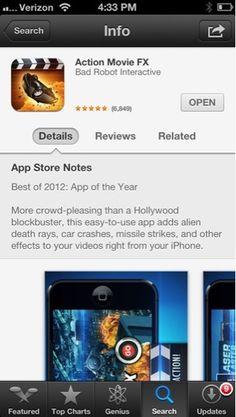 Action Movie FX - best iPhone app 2012 — coryeats