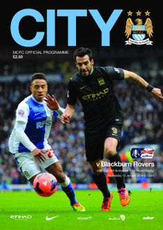 COVER STAR: Alvaro Negredo adorns the front of the City v Blackburn (FA Cup 3rd Round Replay) programme, available at the game!